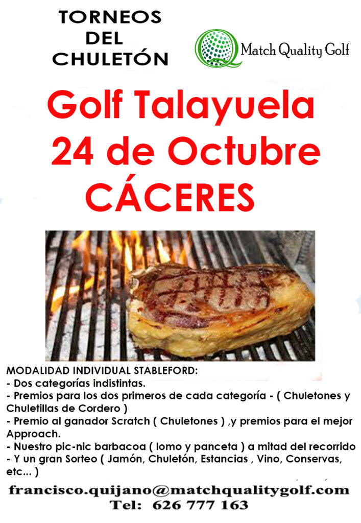 2021.10.24 – Torneo del chuleton – Talayuela Golf